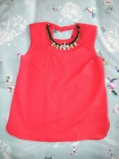 RIVER ISLAND Dark Pink Necklace Top Size 10