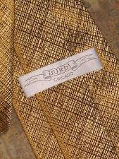 $145.BURDI 100% Silk Gold Pattern Stripe Luxury Tie