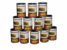 Survival Cave Food Canned Beef - Food Storage 12 Cans - 14.5 oz each