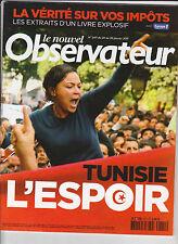 Le nouvel observateur janvier 2011 - L'espoir en Tunisie.  révolution tunisienne
