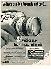 PUBLICITE  1970   CANON   matériel photo-cinéma