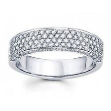 2.00 CT Ladies Four Row Diamond Anniversary Ring In 18 Karat White Gold