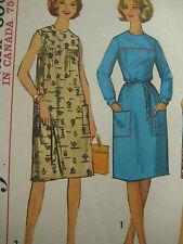 Vintage Simplicity 5402 One Piece Dress Jumper Sewing Pattern Women Size 14/34