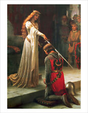 Leighton - The Accolade 1901 knight fine art giclee print wall art various sizes