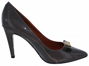 Marc by Marc Jacobs Women's Front Bow Plate Pumps Grey - Size 10