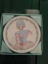 "You Have Touched So Many Hearts Precious Moments Mini Collector's Plate 4"" Nib!"