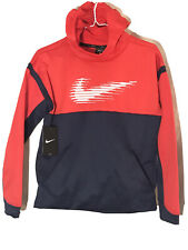 Nike Boys Red/Navy Therms Logo Hoodie Sz L NWT Retail $40