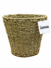 Waste Paper Bin Natural Seagrass Round Storage By Arpan