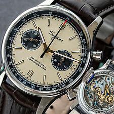 Sugess 40mm SWAN NECK Champagne Panda Mechanical Watch SEAGULL 1963 SUPANK010SN