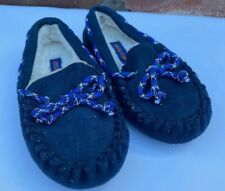 Stride Rite Navy Blue Slippers Moccasins Toddler Kids Size 7-8