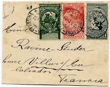 1911 Cinquantenario dell'Unità d'Italia 3 valori viaggiati su busta dest Francia