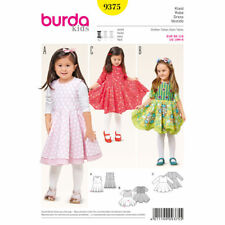 Burda Kids Easy SEWING PATTERN 9375 Toddlers/Girls Dress 18m-6y