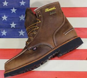 "Thorogood American Heritage 6"" Waterproof Steel Toe Boots FACT 2nd USA 804-3696"