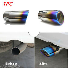 Car Stainless Steel Blue Titanium 1.8-2.2L Exhaust Pipe Tail Throat Muffler Tips