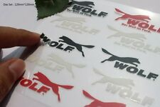 D789 Wolf Set auto aufkleber top 3D Schriftzug car Sticker schwarz rot for Ford