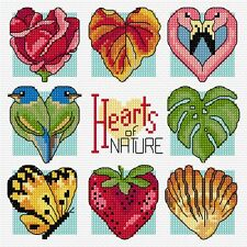 Nature's Hearts - Counted Cross Stitch Chart from Country Threads