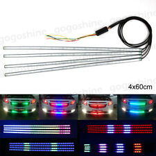 "4x 24"" RGB LED Strip Light Knight Rider Scanner Neon Grille Bumper Spoiler Hood"