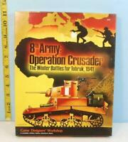 8th Army: Operation Crusader Winter Battle for Tobruk GDW 1984 Punched (IN018)