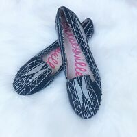 BETSEYVILLE Studded Flats Size 9 Black Slip-On Shoes Loafers Betsey Johnson EUC