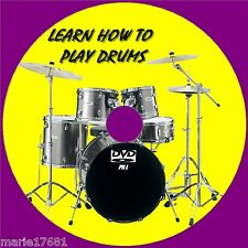 LEARN HOW TO PLAY DRUMS OVER 2Hrs BEGINNERS LESSONS EASY TO FOLLOW GUIDE NEW DVD