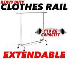 """6 """"Heavy Duty ropa carril abrigos Completo Vestido Talla excesivo Extensible altura y longitud"""