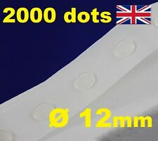 2000 Glue Dots Sticky Craft Clear Card Making Scrap Removable 12mm EASY TACK