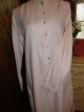 2991) Bloomingdale's Tunic Shirt Dress Light Pink 100% Linen Sz 8 Mandarin Collr