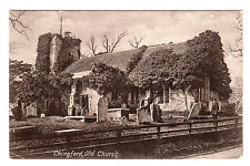 Old Church - Chingford Photo Postcard 1910