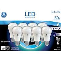 GE LED Soft White Bulb A19 60W A19 8 Pack - GE LED Light Bulb - 2 Boxes 16 Bulbs