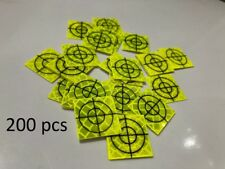 Pack of 200 Yellow Retro Survey Targets 20x20mm Adhesive For Total Stations EDM