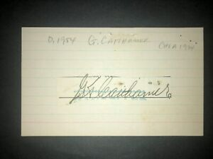 1934 WHITE SOX: George Caithamer, Check Cut (JSC), D.1954, RARE!