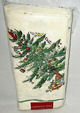 "SPODE CHRISTMAS TREE FABRIC NAPKINS Set of 4  20"" x 20"""