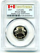 2017 CANADA 25 CENT PCGS MS68 125TH STANLEY CUP QUARTER FIRST STRIKE TOP POP=17