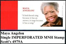 Maya Angelou MNH IMPERFORATED FOREVER No Die Cuts Stamp Scott's 4979A
