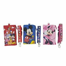 Disney Set of 3 Mickey and Friends Lanyards with Detachable Coin Purse FASTPASS