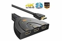 3 Hdmi Port Switcher Switch Splitter Selector HUB Box Cable HDTV 1080P PS3 Xbox