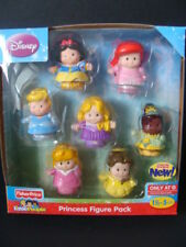 NEW Little People Disney PRINCESS 7 Figure Pack Rapunzel Tiana Belle Ariel NIP
