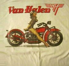VAN HALEN cd lgo BIKER PIN UP GIRL Official SHIRT MED new