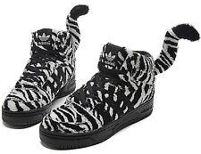 Jeremy Scott X Adidas Originals Zebra Tail High Top Sneakers Men s Size 9.5 4cd1665de