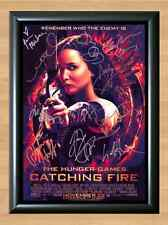 The Hunger Games Catching Fire Cast x12 Signed Autographed A4 Photo Print Poster