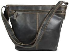 Greenwood cuero bolso señora bolso bandolera bolso henkel marrón 396695