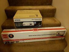 "Epson Home Cinema 760HD with RCA 100"" screen"