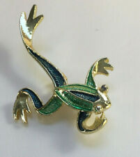 Gerry's Gold Tone Leaping Jumping Frog Signed Brooch Pin Vintage [Ma17]