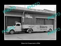 OLD POSTCARD SIZE PHOTO OF MELBOURNE VICTORIA PETERS ICE CREAM TRUCK c1950 3