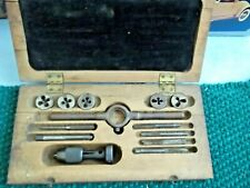 Vintage Greenfield Tap and Die Set in Original wooden box
