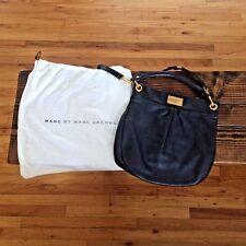 Marc By Marc Jacobs Classic Q Hillier Hobo Leather Shoulder/Handbag NAVY NWOT
