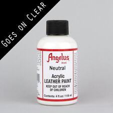ANGELUS Acrilico Pelle Pittura neutro 4oz (118ml) bottiglia resistente all'acqua