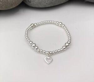 Children's Sterling Silver Bracelet. Bridesmaid Bracelet. Kids Silver Bracelet.