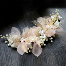 silk yarn flower bride headdress bride wedding hair accessories hair ornament EO
