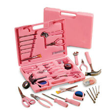 Ladies' Pink Hardware Tool Kit - 105 pc., by Collections Etc